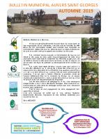 Bulletin automne 2019