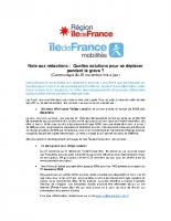 IDFM_CP_Solutions pour se déplacer en Île-de-France pendant la grève