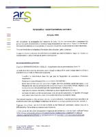 ARS-Recommandations sanitaires au 26022020