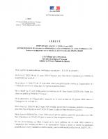 ARRETE RESTRICTION D'HORAIRES DES COMMERCES – 11 mai 2020