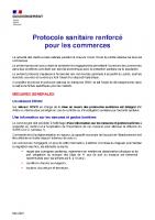 Protocole sanitaire renforce – Commerces