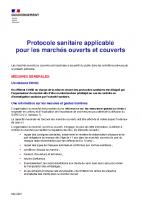 Protocole sanitaire renforce – Marches couverts et ouverts – 120521 – 21h